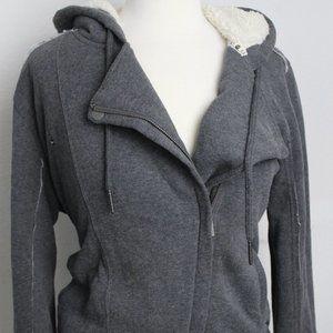 Roxy Women's Zipped Hoodie Jacket, Grey